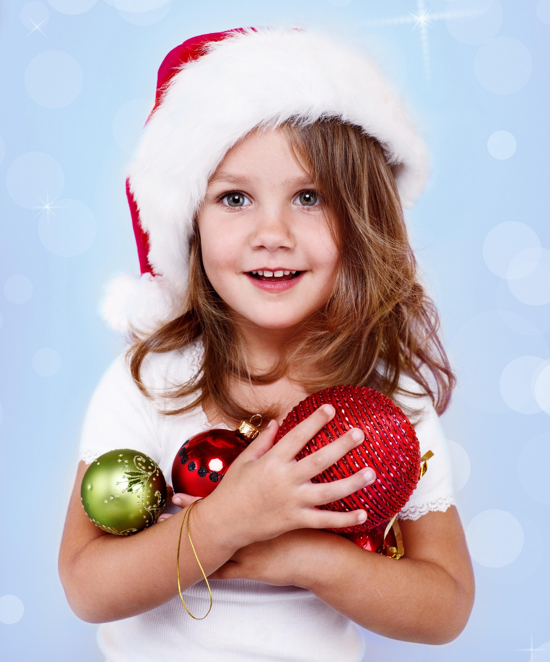 Картинки девочек в новый год