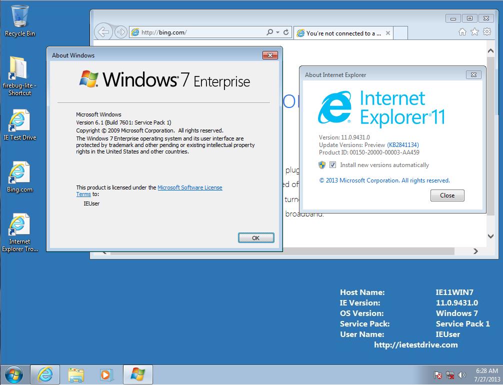 Internet Explorer 11 для Windows 7 X32
